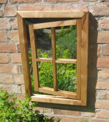Garden Mirror Illusion - Rustic Oak